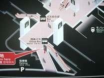 羽田空港国際線ターミナル ホテルシャトルバス乗り場 案内地図