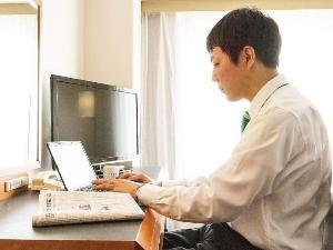 全館「Wi-Fi&高速LAN」無料接続 で ビジネスを全力サポート