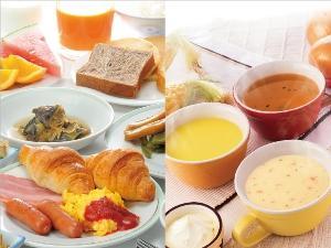 朝食とスープバー