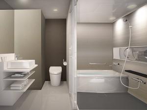 独立型バスルームを設置