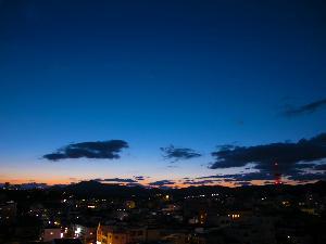 ホテルよりきれいな夕焼けを眺めることが出来ます♪
