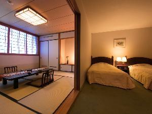 和洋室 〜和室でくつろぎ、ベッドで眠る〜