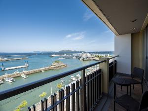 海側客室からの眺めはここでしか味わえません