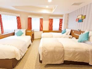 レディーストリプルルーム(一例)【広さ24.2平米/ベッド幅1.1m】女性専用のアメニティをご用意しております!