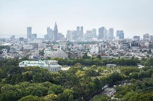 ホテルから望む新宿方面景色